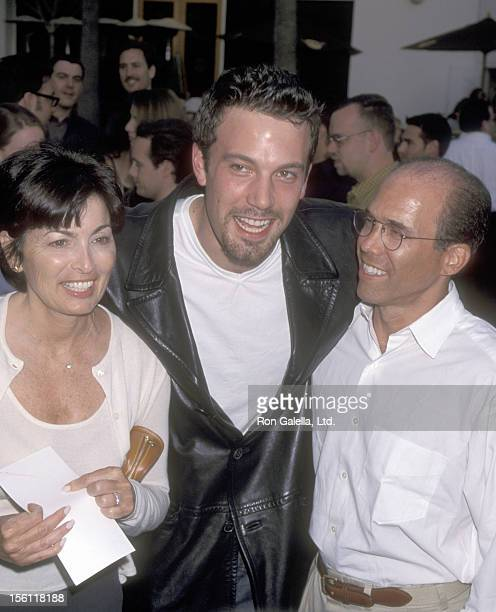 Actor Ben Affleck and Producer Jeffrey Katzenberg and his wife Marilyn Katzenberg attend the 'American Pie' Universal City Premiere on July 7 1999 at...