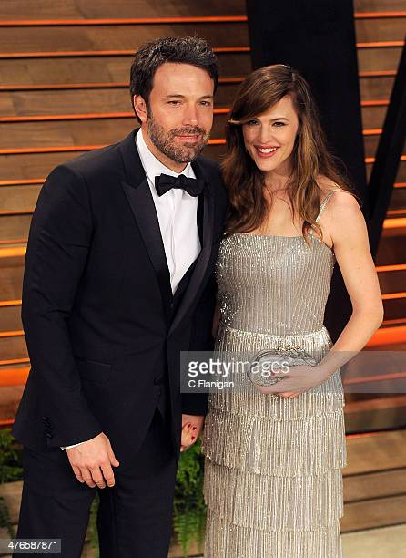 Actor Ben Affleck and wife Jennifer Garner arrive at the 2014 Vanity Fair Oscar Party Hosted By Graydon Carter on March 2 2014 in West Hollywood...