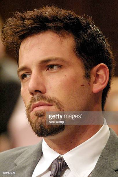 Actor Ben Affleck appears at a Senate Appropriations LaborHealth and Human Services Subcommittee hearing on Capitol Hill July 11 2001 in Washington DC
