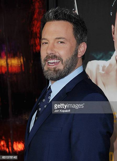 Actor Ben Affleck arrives at the Premiere of Live By Night at TCL Chinese Theatre on January 9 2017 in Hollywood California