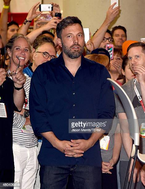 Actor Ben Affleck attends ComicCon International 2015 promoting 'Batman v Superman Dawn of Justice' at the San Diego Convention Center on July 11...