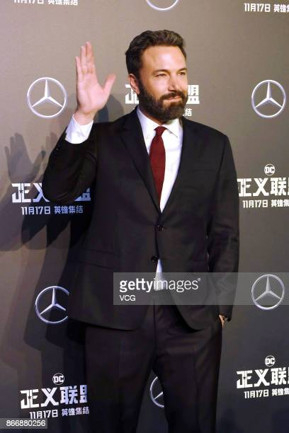 Actor Ben Affleck attends 'Justice League' premiere at 798 Art Zone on October 26 2017 in Beijing China
