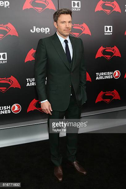 """Actor Ben Affleck attends the """"Batman v. Superman: Dawn of Justice"""" premiere at Radio City Music Hall on March 20, 2016 in New York City."""