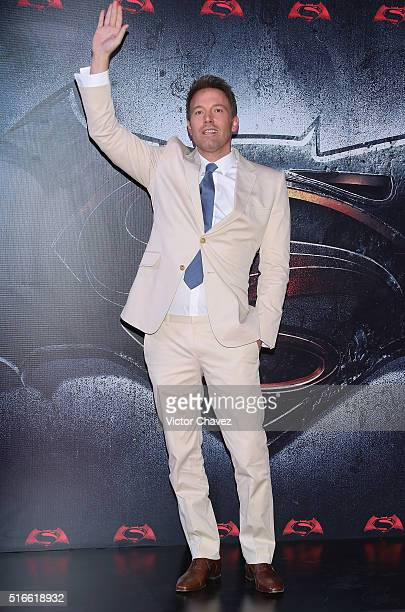 """Actor Ben Affleck attends the """"Batman v Superman: Dawn of Justice"""" world premiere Mexico City at Auditorio Nacional on March 19, 2016 in Mexico City,..."""