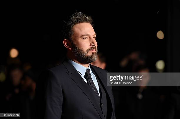 Actor Ben Affleck attends the film premiere of 'Live By Night' on January 11 2017 in London United Kingdom