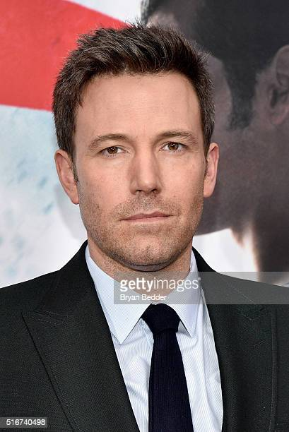 """Actor Ben Affleck attends the launch of Bai Superteas at the """"Batman v Superman: Dawn of Justice"""" premiere on March 20, 2016 in New York City."""