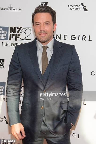 Actor Ben Affleck attends the Opening Night Gala Presentation And World Premiere Of 'Gone Girl' 52nd New York Film Festival at Alice Tully Hall on...