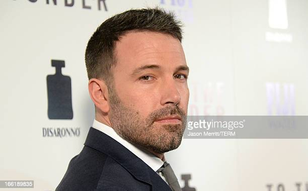 Actor Ben Affleck attends the premiere of Magnolia Pictures' 'To The Wonder' at Pacific Design Center on April 9 2013 in West Hollywood California