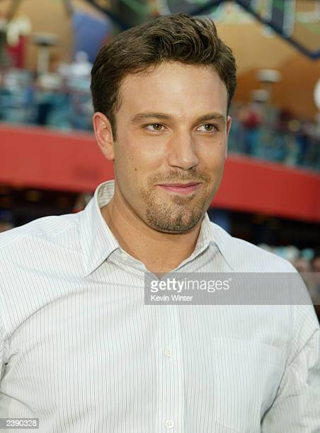 Actor Ben Affleck attends the premiere of Project Greenlight 2's The Battle of Shaker Heights at Universal Citywalk August 11 2003 in Universal City...