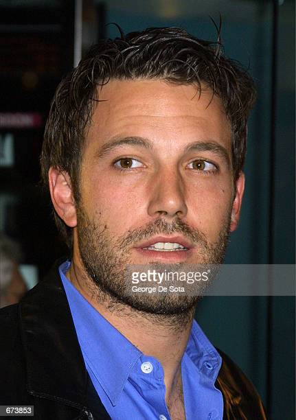 Actor Ben Affleck attends the premiere of Project Greenlight November 27 2001 at the Chelsea West Theatre in New York City