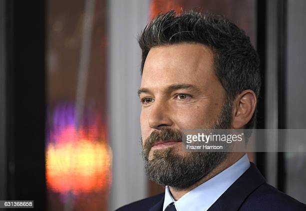 Actor Ben Affleck attends the premiere of Warner Bros Pictures' 'Live By Night' at TCL Chinese Theatre on January 9 2017 in Hollywood California