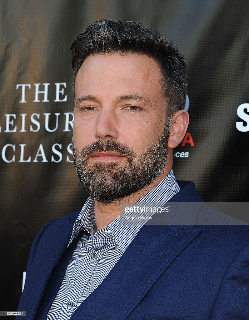 Actor Ben Affleck attends the Project Greenlight Season 4 Winning Film premiere 'The Leisure Class' presented by Matt Damon, Ben Affleck, Adaptive Studios and HBO at The Theatre at Ace Hotel on August 10, 2015 in Los Angeles, California.