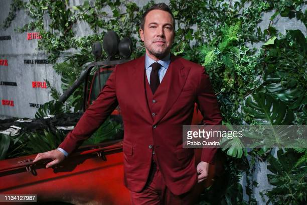 Actor Ben Affleck attends the Triple Frontier premiere at Callao Cinema on March 06, 2019 in Madrid, Spain.