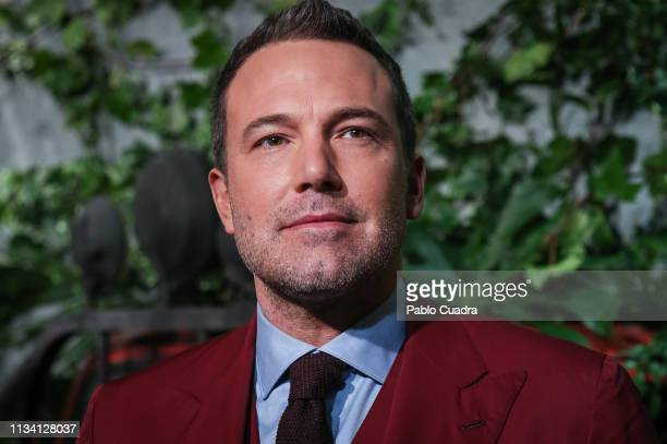 Actor Ben Affleck attends the Triple Frontier premiere at Callao Cinema on March 06 2019 in Madrid Spain