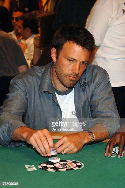 Actor Ben Affleck competes in the Ante up for Africa poker tournement during the World Series of Poker at the RIO Hotel Casino July 5 2007 in Las...