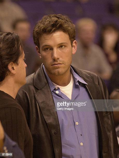 Actor Ben Affleck during Los Angeles LakersWahington Wizards game March 23 2001 in Los Angeles CA