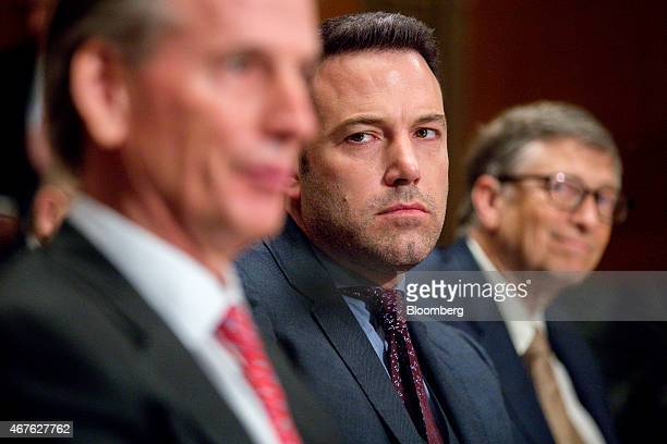 Actor Ben Affleck founder of the Eastern Congo Initiative center and Bill Gates billionaire and cochair of the Bill and Melinda Gates Foundation...