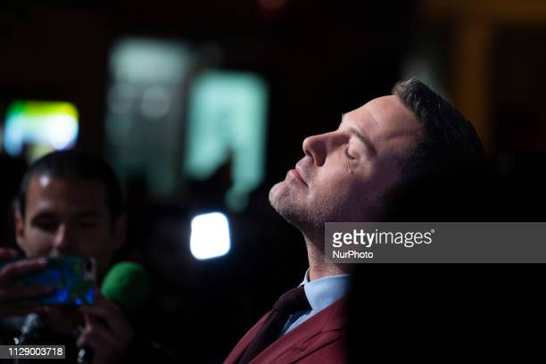 US actor Ben Affleck poses as he arrives at the premiere of the film 'Triple Border' by JC Chandor in Callao Madrid Spain 06 March 2019