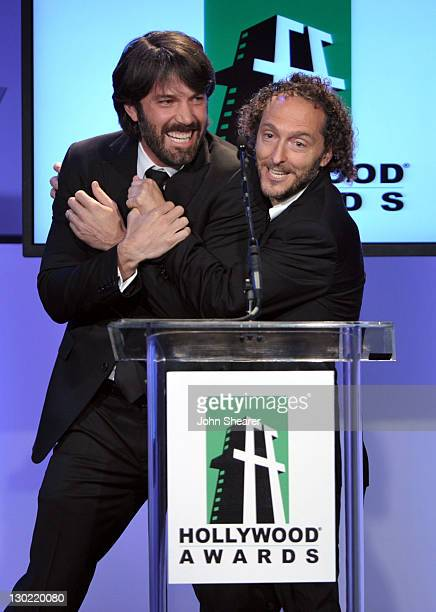 Actor Ben Affleck presents the Hollywood Cinematographer Award to Emmanuel Lubezki onstage at the 15th Annual Hollywood Film Awards Gala Presented By...