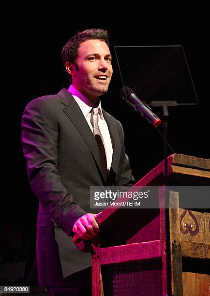 Actor Ben Affleck speaks during the Children Mending Hearts Gala held at the House Of Blues on February 18 2009 in Hollywood California