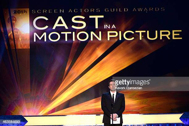 Actor Ben Affleck speaks onstage during the 20th Annual Screen Actors Guild Awards at The Shrine Auditorium on January 18 2014 in Los Angeles...
