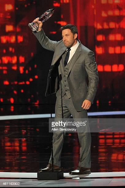 Actor Ben Affleck speaks onstage during the 41st Annual People's Choice Awards at Nokia Theatre LA Live on January 7 2015 in Los Angeles California
