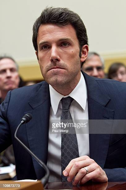 Actor Ben Affleck testifies before the House Foreign Affairs committee hearing on The Democratic Republic of the Congo Securing Peace in the Midst of...