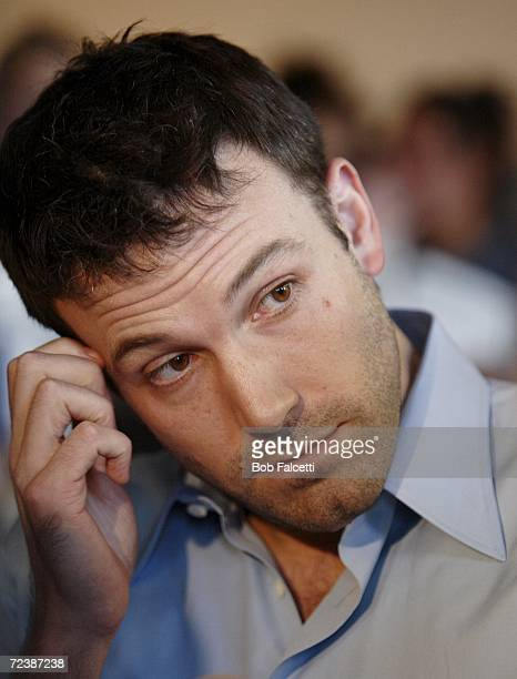 Actor Ben Affleck visits the campus of Central Connecticut State University to campaign for Democratic U.S. Congress candidate Chris Murphy November...