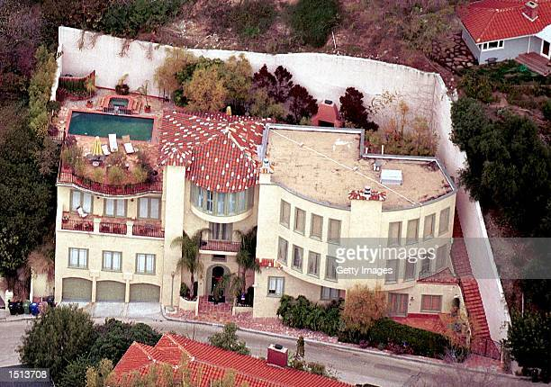 Actor Ben Affleck's home is seen from the air February 18 2001 in Los Angeles CA Affleck who has owned the fivebedroom threestory house since April...