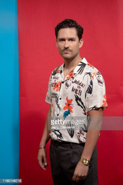Actor Ben Aldridge of 'Pennyworth' is photographed for Los Angeles Times at ComicCon International on July 19 2019 in San Diego California PUBLISHED...