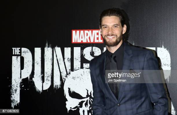 Actor Ben Barnes attends the 'Marvel's The Punisher' New York premiere at AMC Loews 34th Street 14 theater on November 6 2017 in New York City