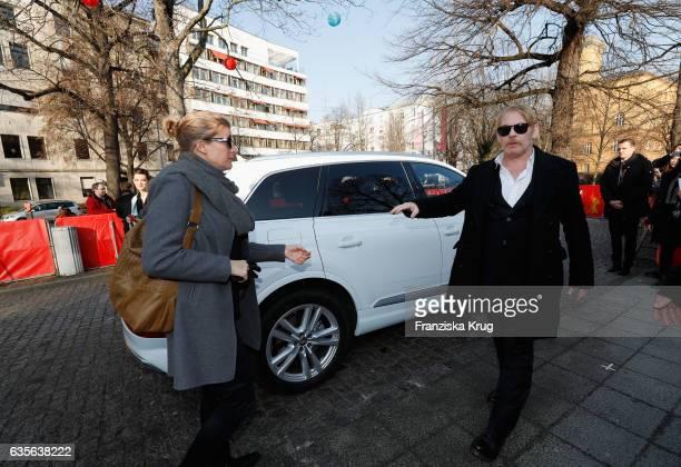 Actor Ben Becker and his partner Anne Seidel arrive at the 'Der Gleiche Himmel' premier during the 67th Berlinale International Film Festival Berlin...