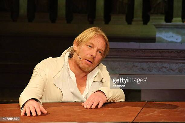 Actor Ben Becker performs in Me Judas at Berliner Dom on November 18 2015 in Berlin Germany