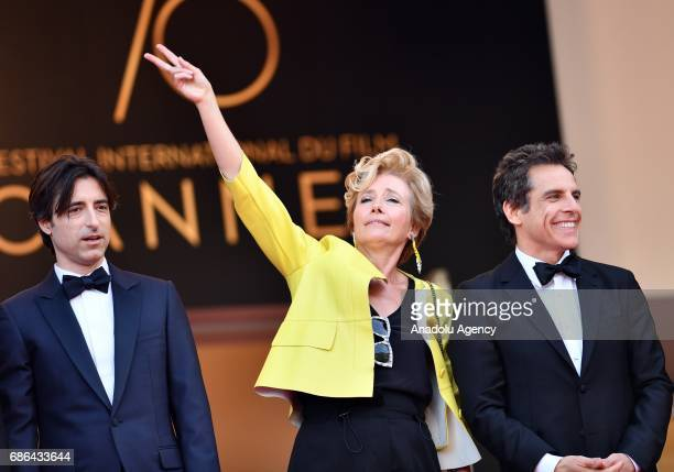 US actor Ben Ben Stiller and British actress Emma Thompson arrive for the film The Meyerowitz Stories in competition at the 70th annual Cannes Film...