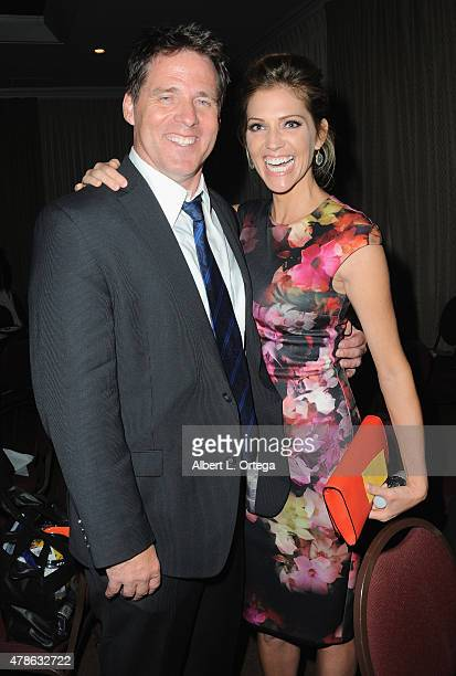 Actor Ben Browder and actress Tricia Helfer attend the 41st Annual Saturn Awards - After Party held at The Castaway on June 25, 2015 in Burbank,...