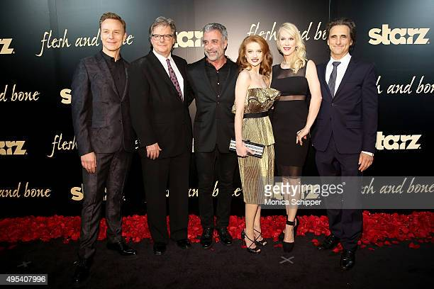 Actor Ben Daniels producer Kevin Brown Producer John Melfi Ballet dancer Sarah Hay Creator of Flesh and Bone Moira WalleyBeckett and producer...