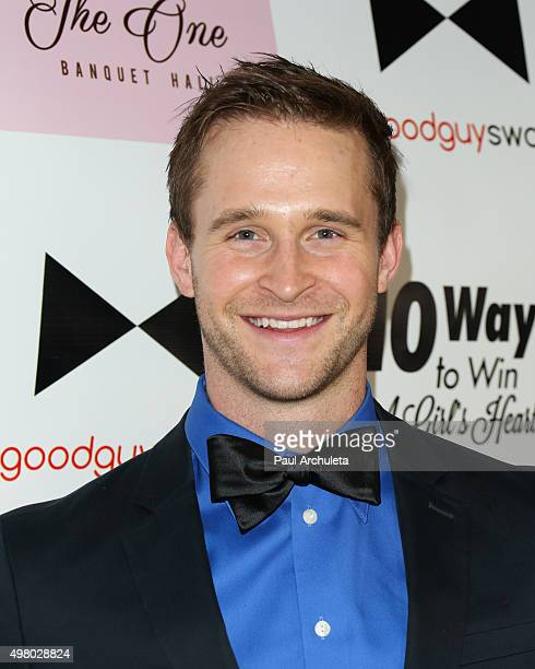 """Actor Ben Davies attends the book release party for Kris Wolfe's """"10 Ways To Win A Girl's Heart"""" at The One Banquet Hall on November 19, 2015 in Los..."""