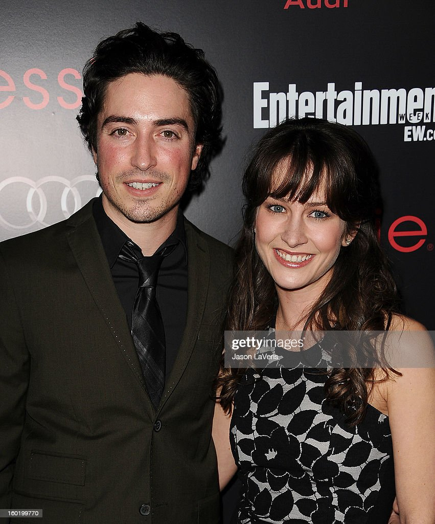Actor Ben Feldman and actress Michelle Mulitz attend the Entertainment Weekly Screen Actors Guild Awards pre-party at Chateau Marmont on January 26, 2013 in Los Angeles, California.