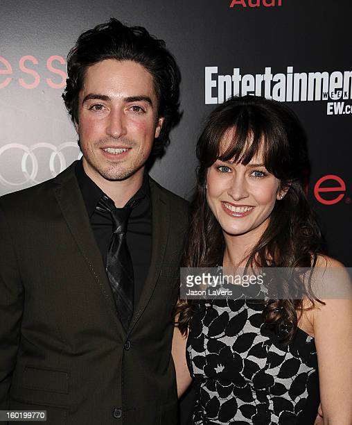 Actor Ben Feldman and actress Michelle Mulitz attend the Entertainment Weekly Screen Actors Guild Awards preparty at Chateau Marmont on January 26...