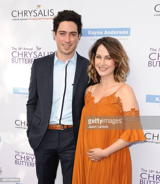 Actor Ben Feldman and wife Michelle Mulitz attend the 16th annual Chrysalis Butterfly Ball on June 3 2017 in Brentwood California