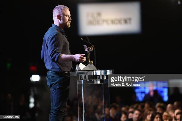 Actor Ben Foster accepts the award for Best Supporting Male for 'Hell or High Water' onstage during the 2017 Film Independent Spirit Awards at the...