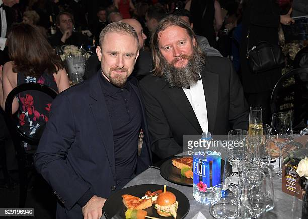 Actor Ben Foster and Director David Mackenzie attend the 22nd Annual Critics' Choice Awards presented by FIJI Water at Barker Hangar on December 11...