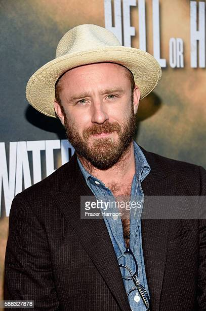Actor Ben Foster arrives at the Los Angeles Red Carpet Screening Of Hell Or High Water at ArcLight Cinemas on August 10 2016 in Hollywood California