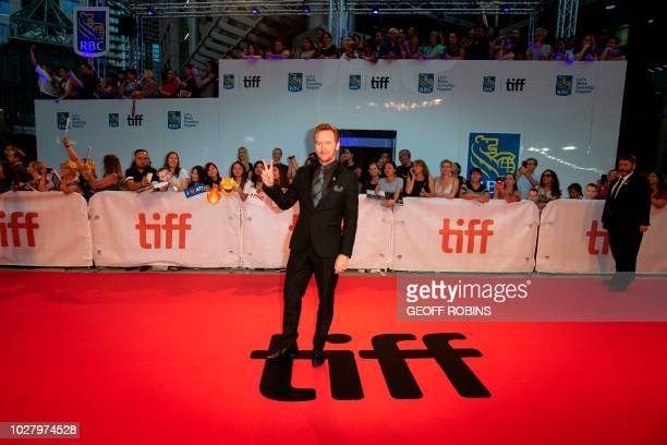 US actor Ben Foster arrives for the Netflix film Outlaw King on the opening night of the Toronto International Film Festival in Toronto Ontario on...