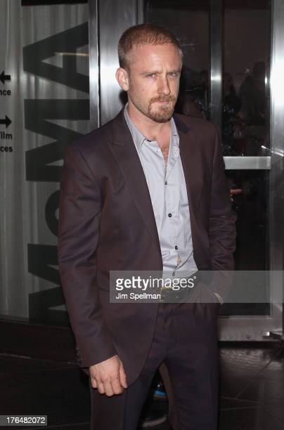 Actor Ben Foster attends the Downtown Calvin Klein with The Cinema Society screening of IFC Films' Ain't Them Bodies Saints at Museum of Modern Art...