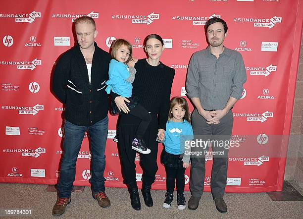 Actor Ben Foster Kennadie Smith actress Rooney Mara Jacklynn Smith and actor Casey Affleck attend the 'Aint Them Bodies Saints' premiere at Eccles...