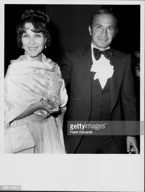 Actor Ben Gazzara and his wife actress Janice Rule attending the wedding of actor Peter Falk at the Church of the Good Shepherd Beverly Hills...