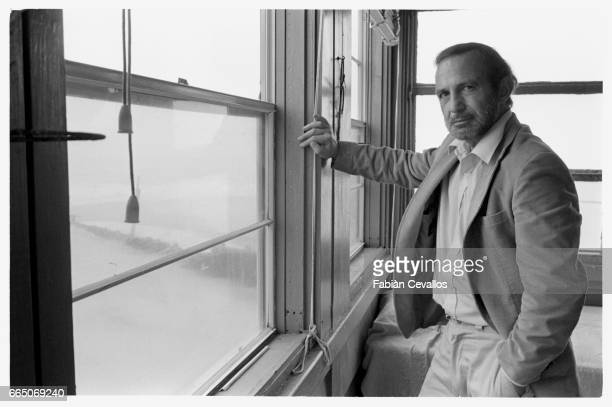 Actor Ben Gazzara on the set of the film Tales of Ordinary Madness waiting in a hotel room for a break in the weather The film starring Gazzara is...