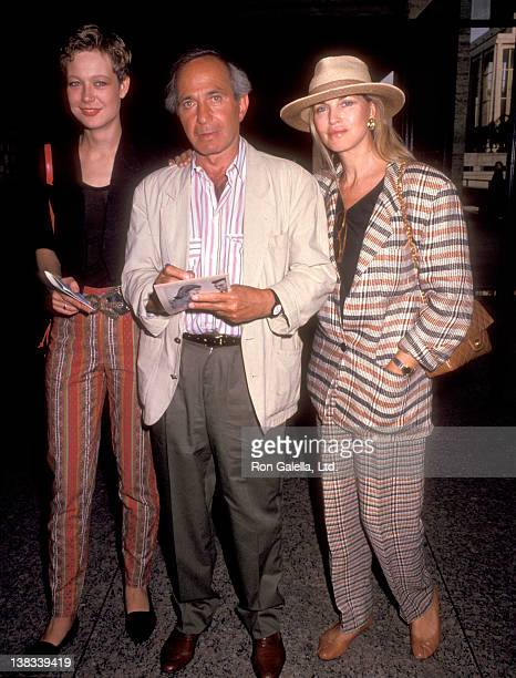 "Actor Ben Gazzara, wife Elke Krivat, and his daughter Elizabeth Gazzara attend the Screening of Showtime's ""Chantilly Lace"" on June 15, 1993 at..."