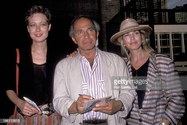 Actor Ben Gazzara, wife Elke Krivat, and his daughter Elizabeth Gazzara attend the Screening of Showtime's 'Chantilly Lace' on June 15, 1993 at...